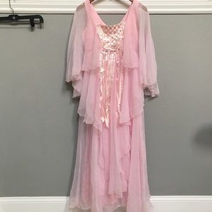Vintage Pink flowing Princess Gown